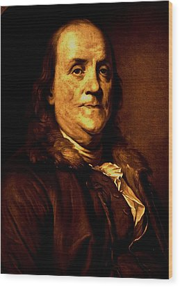 Founding Father Wood Print by Benjamin Yeager