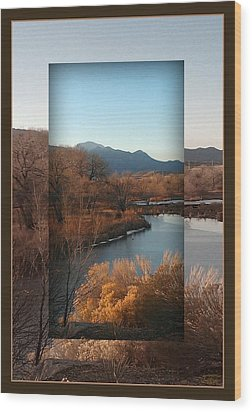 Wood Print featuring the photograph Fountain Creek To Pikes Peak by Michelle Frizzell-Thompson