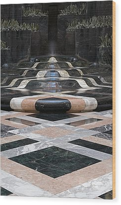 Wood Print featuring the photograph Fountain Flow by Glenn DiPaola
