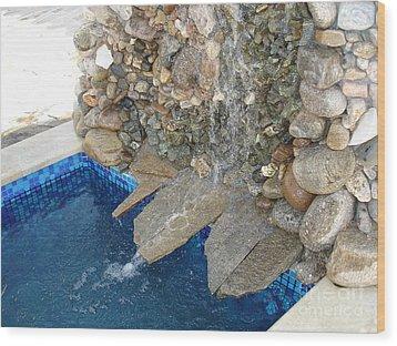 Fountain In The Yard Wood Print by Nikolay Ilchevski