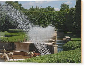 Wood Print featuring the photograph Fountains by Jennifer Ancker