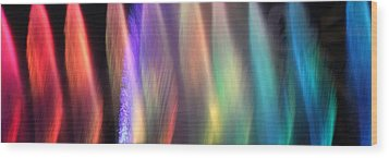 Fountains Of Color Wood Print by James Eddy