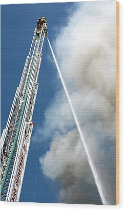 Four Alarm Blaze 001 Wood Print