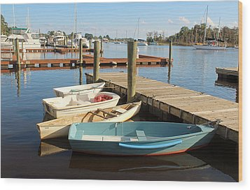 Wood Print featuring the photograph Four Boats  by Cynthia Guinn
