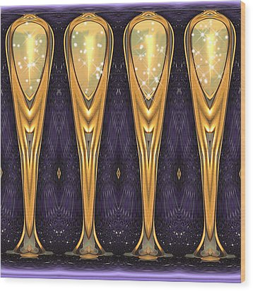 Four Cheers Wood Print by Wendy J St Christopher