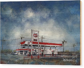 Four Corners Mart Wood Print by Tim Oliver