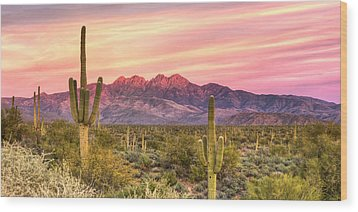 Four Peaks  Wood Print by Anthony Citro