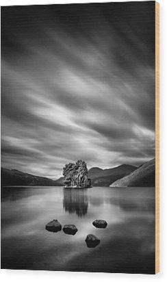 Four Rocks Wood Print by Dave Bowman