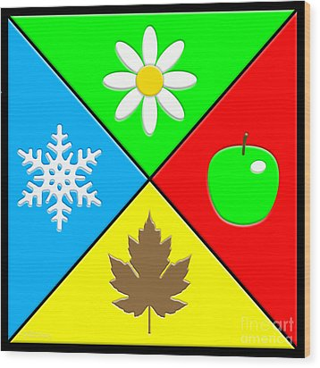 Wood Print featuring the digital art Four Seasons by Cristophers Dream Artistry