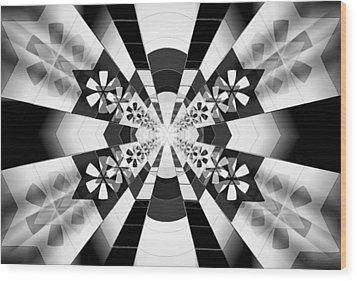 Wood Print featuring the drawing Four Star Gateway by Derek Gedney
