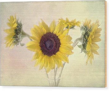 Wood Print featuring the photograph Hello Sunshine by Louise Kumpf