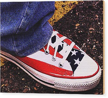 Fourth Of July Connies Wood Print by Ron Regalado