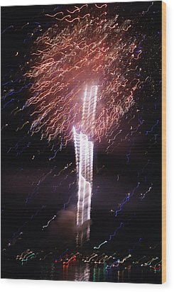 Fourth Of July Grand Lake Co 2007 Wood Print by Jacqueline Russell