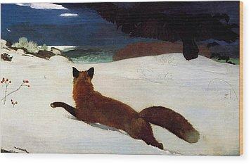 Fox Hunt Wood Print by Winslow Homer