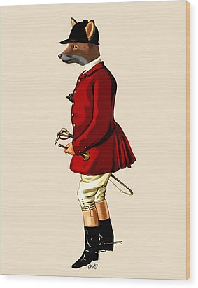 Fox Hunter 1 Wood Print by Kelly McLaughlan