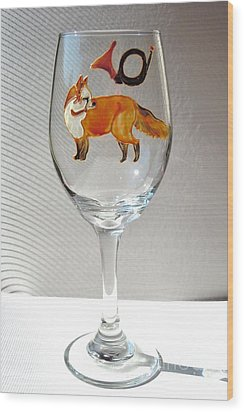 Fox Hunting On Glass Wood Print by Pauline Ross