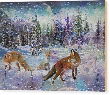 Fox Storm Wood Print