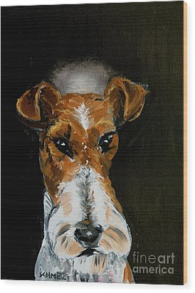 Fox Terrier Angel Wood Print by Jay  Schmetz