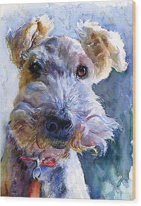 Fox Terrier Full Wood Print by John D Benson