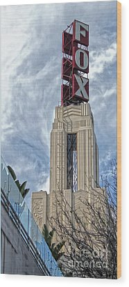 Fox Theater - Pomona - 01 Wood Print by Gregory Dyer
