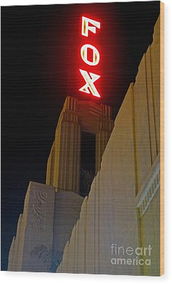 Fox Theater - Pomona - 02 Wood Print by Gregory Dyer