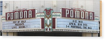 Fox Theater - Pomona - 09 Wood Print by Gregory Dyer