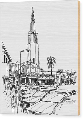 Fox Theater Westwood Village California Wood Print