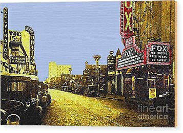 Fox Theatre In Hackensack N J In 1935 Wood Print