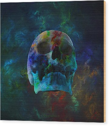 Fracskull 3 Wood Print by Chris Thomas