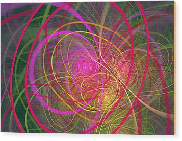 Fractal - Abstract - Loopy Doopy Wood Print by Mike Savad