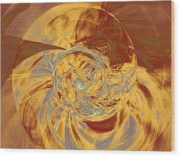 Fractal Ammonite Wood Print