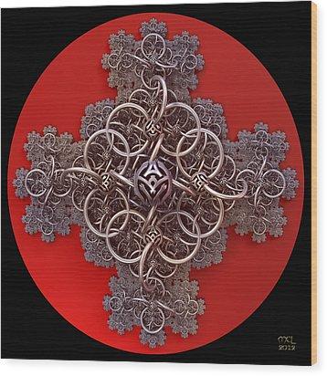 Fractal Cruciform Wood Print
