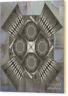 Fractal Design Number Nine Wood Print by Doris Wood