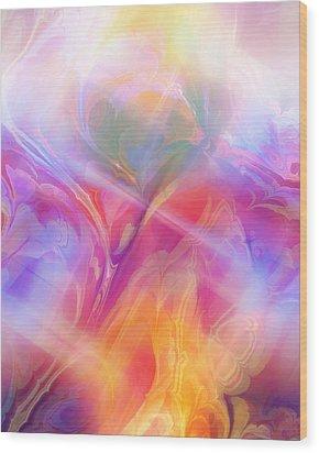 Fractal Dream Wood Print by Ann Croon