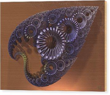 Fractal Leaf Jewel Wood Print