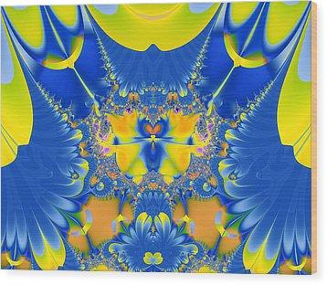 Fractal Owl Wood Print by Ian Mitchell