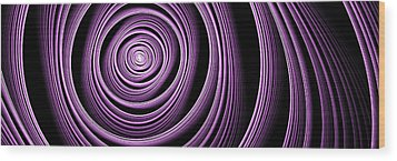 Fractal Purple Swirl Wood Print