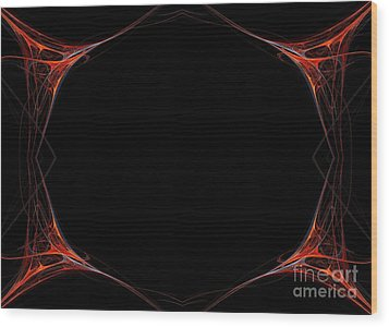 Wood Print featuring the digital art Fractal Red Frame by Henrik Lehnerer