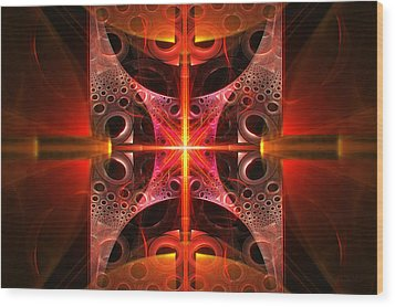 Fractal - Science - Cold Fusion Wood Print by Mike Savad