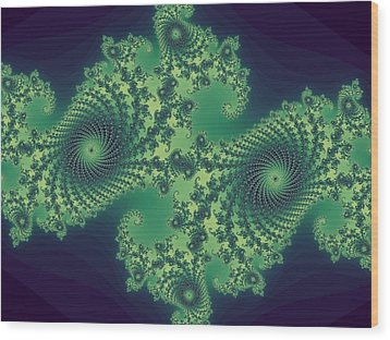 Fractals For Lane  Mapping Wood Print by Mary Ann Southern