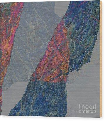 Fracture Xxx Wood Print by Paul Davenport