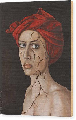 Fractured Identity Edit 1 Wood Print by Leah Saulnier The Painting Maniac