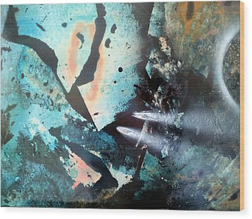 Fractured Planet Wood Print