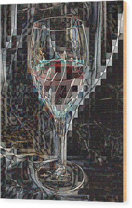 Fractured Surprise Wood Print by Marie Neder