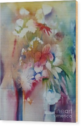 Fragile Flowers Wood Print by Donna Acheson-Juillet
