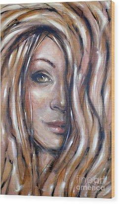 Fragile Smiles 230509 Wood Print by Selena Boron