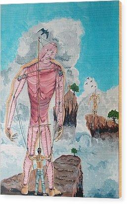 Fragiles Colossus Wood Print