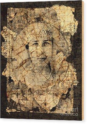 Fragments Wood Print by Judy Wood