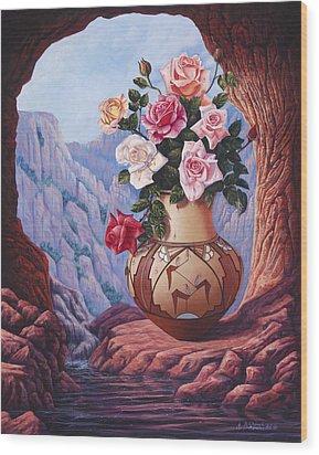Fragrance And Dew Wood Print by Ricardo Chavez-Mendez