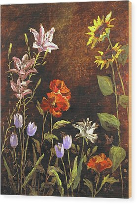 Fragrant Garden Wood Print by Vic  Mastis